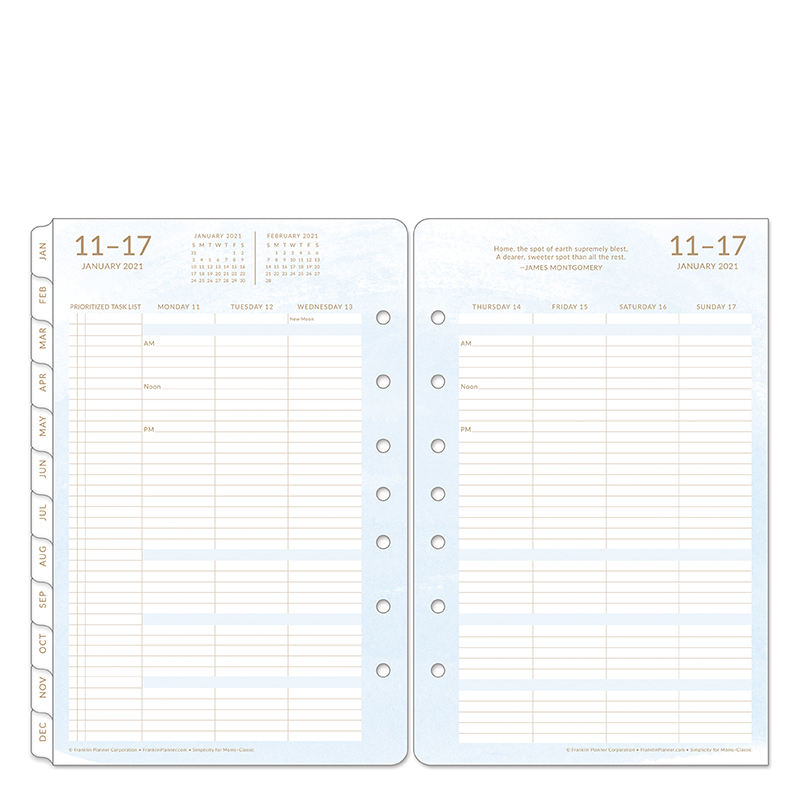 Classic Simplicity For Moms Weekly Ring-Bound Planner - Jan 2021 - Dec 2021