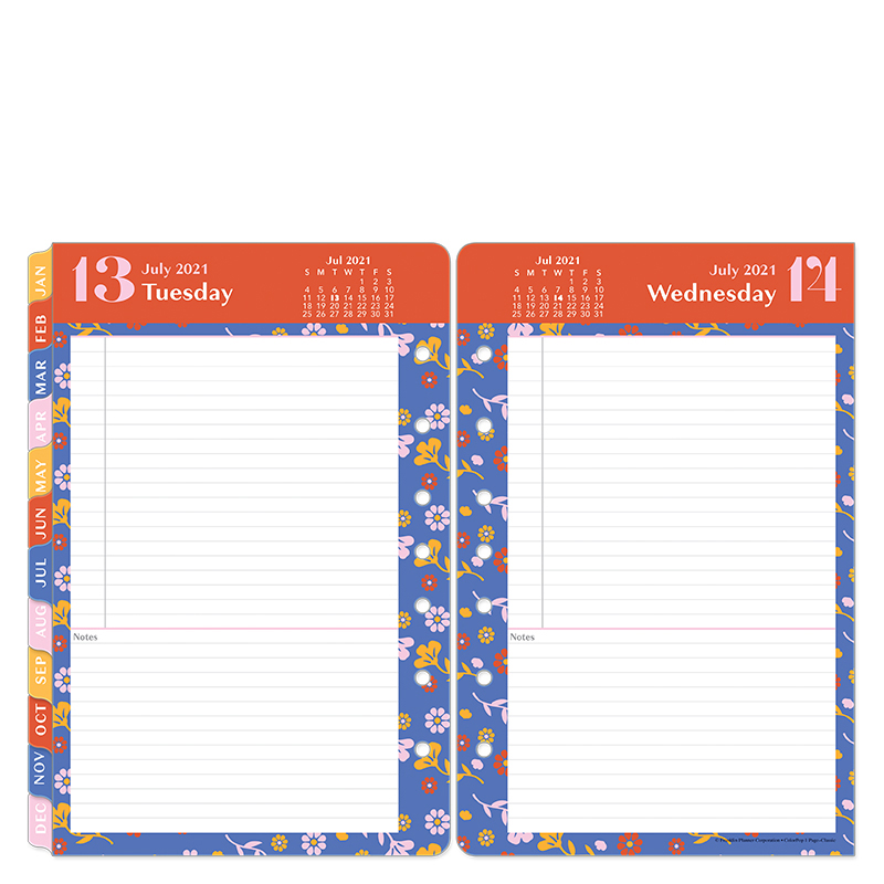 Classic ColorPop One Page Per Day Ring-Bound Planner - Jul 2021 - Jun 2022