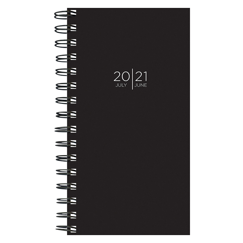 Black Small Weekly/Monthly Academic Planner - July 2020 -2021
