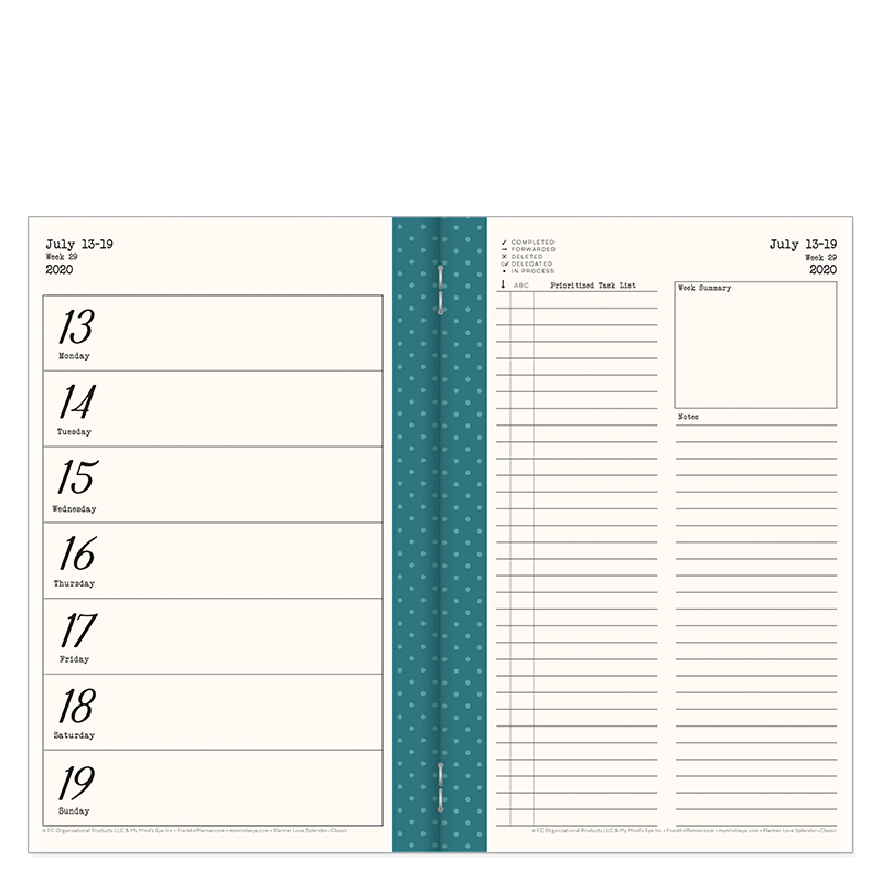 Classic Planner Love Travelers 6-Month Planner - Splendor Jul 2020 - Dec 2020