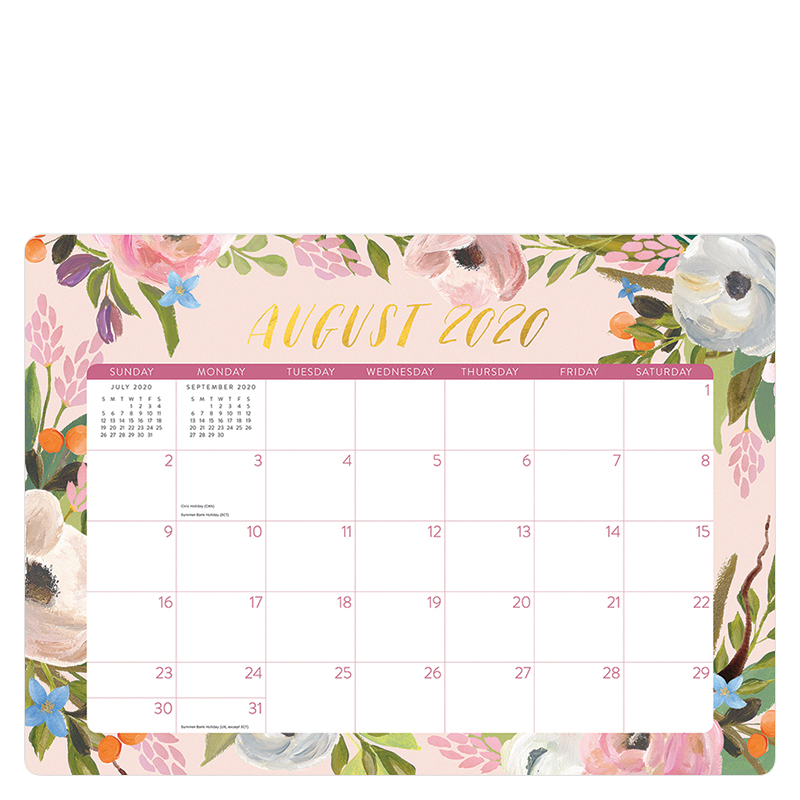 Bella Flora Decorative 2021 Desk Blotter