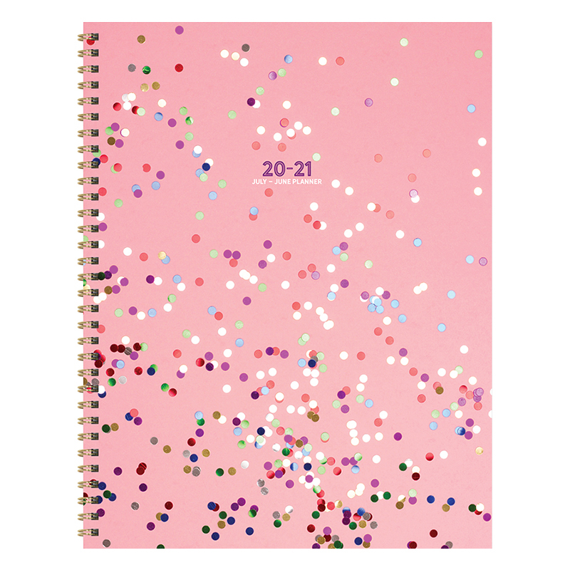 Sparkle Pink Large Weekly/Monthly July 2020-2021 Academic Planner
