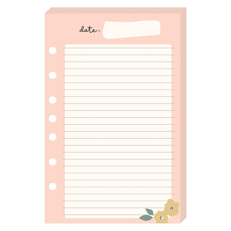 Classic Planner Love Lined Notepad - Gingham Gardens