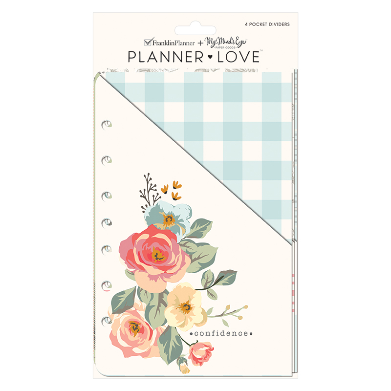 Classic Planner Love Pocket Dividers - Gingham Gardens