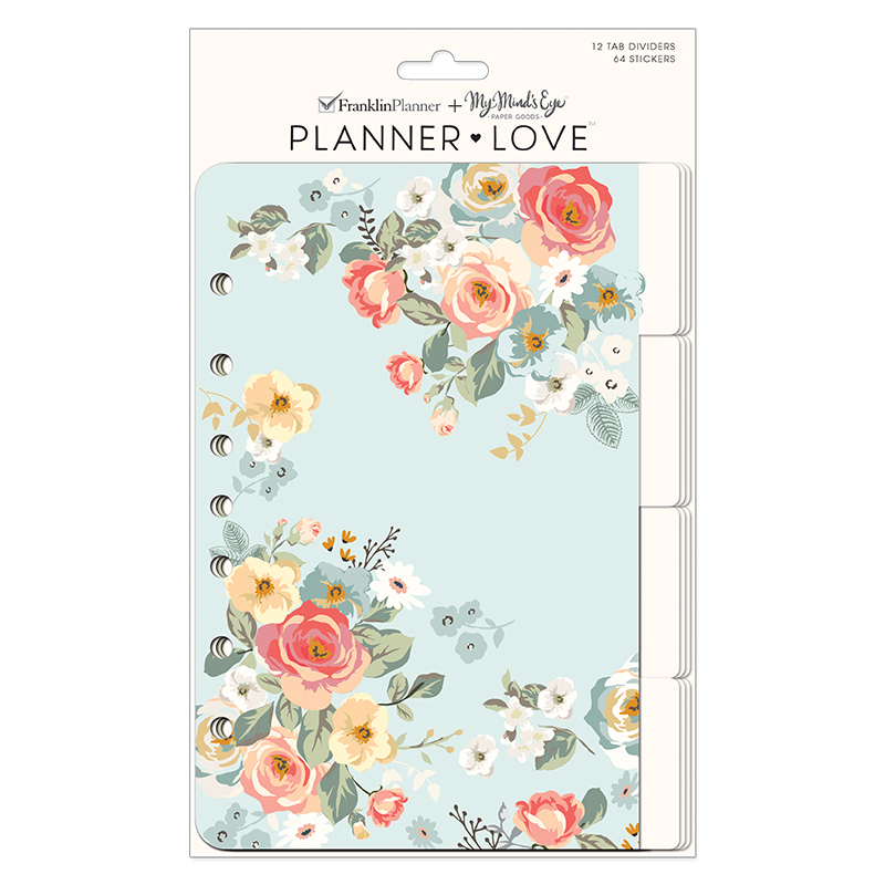 Classic Planner Love Tab Dividers - Gingham Gardens