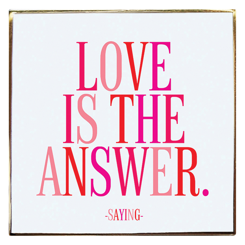 Enamel Pin - Love is the Answer