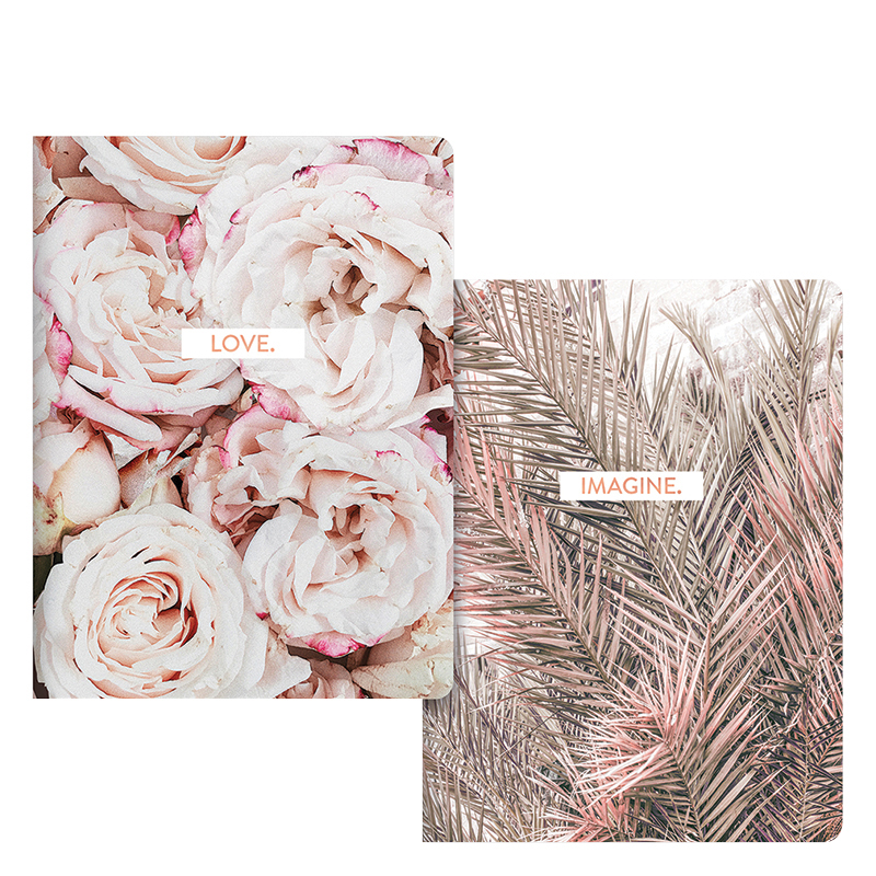 Notebook Duo - Roses and Palms
