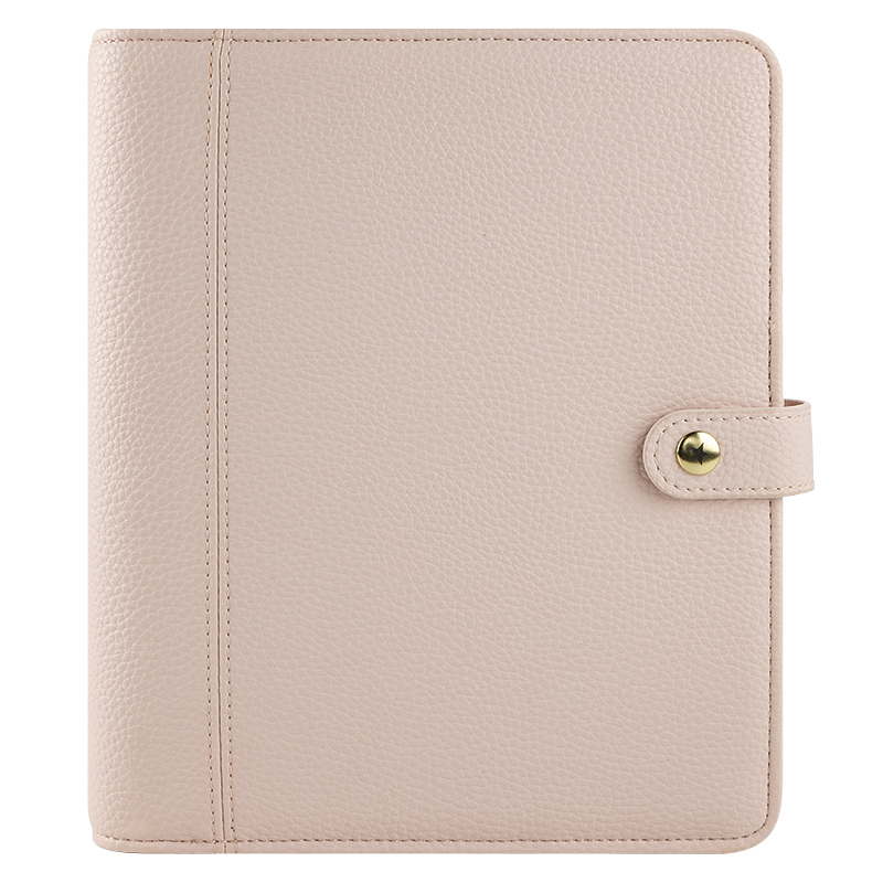 Classic A Beautiful Life Simulated Leather Snap Binder - Blush