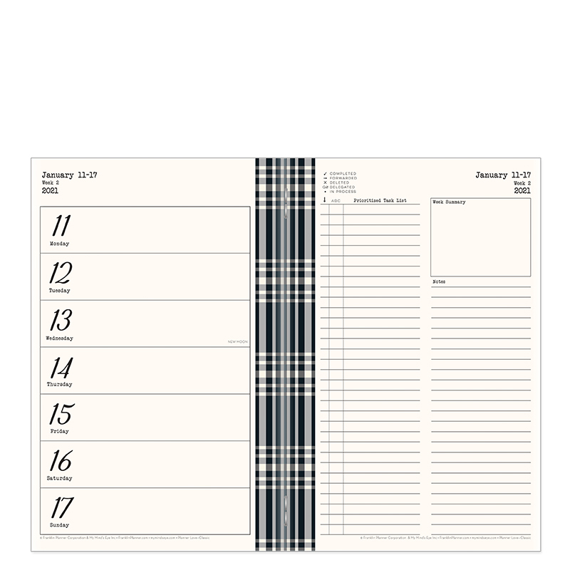 Classic Gingham Farm Planner Love Travelers Planner - Jan 2021 - Dec 2021