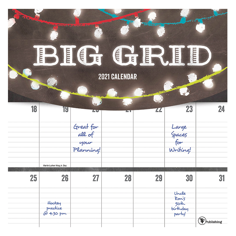 2021 Big Grid - Chalk Wall Calendar