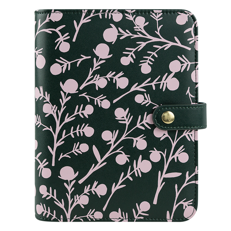 Compact Thalia Simulated Leather Snap Binder - Juniper Floral