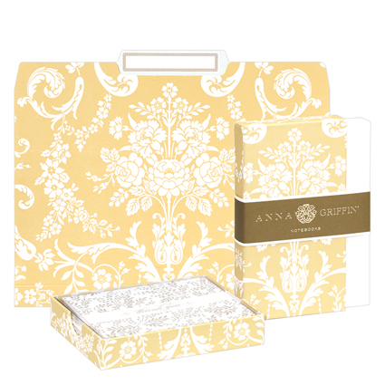Office Organization Set: File Folders, Notebook Set & Thank You Notes - Amelie Damask