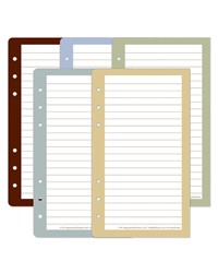 Color Wide Lined Pages