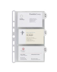 Insertables Categorized Business Card Holder