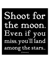 Shoot for the moon...Magnet