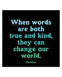 Words Are True Kind Magnet