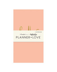 Coral Planner Love Notebooks 3 Pack