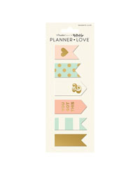 Coral Planner Love Magnet Clips