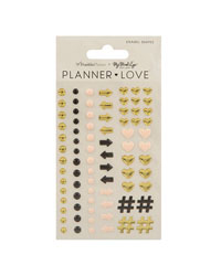 Gold Planner Love Enamel Shapes