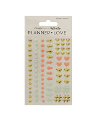 Coral Planner Love Enamel Shapes