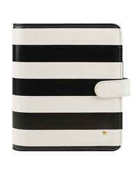Planner Love Simulated Leather Striped Binder