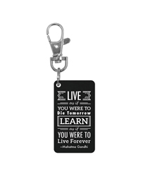 Keychain Charm - Live and learn