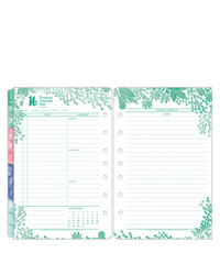 Flora Ring-bound Daily Planner