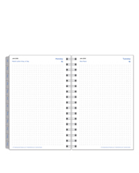 Dot Grid Wire-bound Daily Planner