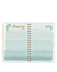 Watercolor Wire-bound Weekly Planner
