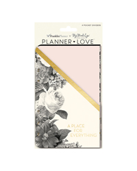 Blush Florals Planner Love Pocket Dividers