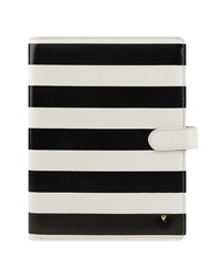 Striped Planner Love Simulated Leather Wirebound Cover