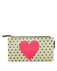 Heart Canvas Pencil Bag