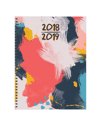 Abstract Large Weekly/Monthly Academic Year Planner - 2018/2019