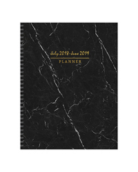 Marble Large Weekly/Monthly Academic Year Planner - 2018/2019