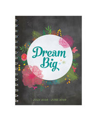 Dream Big Medium Weekly/Monthly Academic Year Planner - 2018/2019