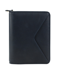 Maia Leather Zipper Binder