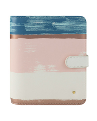 Brushed Striped Planner Love Simulated Leather Binder