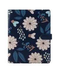 Brushed Floral Planner Love Simulated Leather Wire-bound Cover