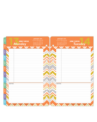RetroPop One Page Per Day Ring-bound Planner