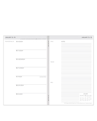 Travelers Weekly Planner - White Cover