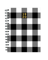 Classic Plaid Medium Weekly/Monthly Academic Planner - July 2019 - June 2020
