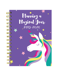 Magical Unicorn Medium Weekly/Monthly Academic Planner - July 2019 - June 2020
