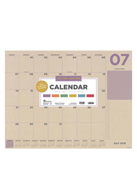 Academic Kraft Numeric Large Desk Pad Calendar - July 2019 - June 2020
