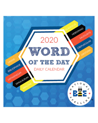 2020 Word of the Day Daily Desktop Calendar