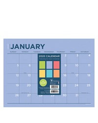 2020 Full Color Mini Desk Pad Calendar