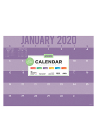2020 Color Stripes Desk Pad Calendar