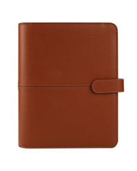 Anna Leather Snap Binder