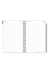 Dot Grid Two Page Per Day Wire-bound Planner