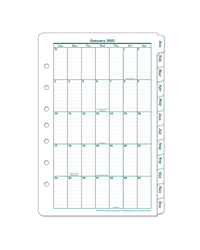 Classic Original One-Page Monthly Calendar Tabs