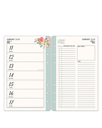 Gingham Gardens Planner Love Weekly Ring-Bound Planner